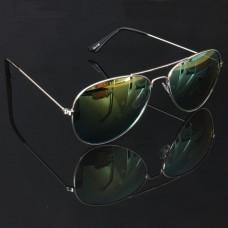 Pilotenbril zilver met oranje spiegel lenzen
